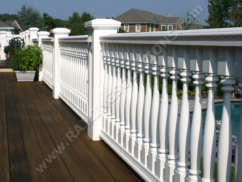 Premium railing and baluster systems for deck porch and for Balcony railing designs pictures